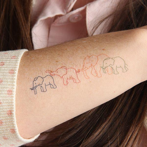 Elephant Family animals temporary tattoos http://tattify.com/product/elephant-family/