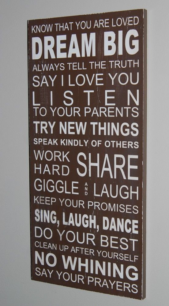 :-): Dreams Big, Families Growing Quotes, Child Rooms, Love Kids, The Rules, Houses Rules, Girls Rooms, Families Rules, Kids Rooms