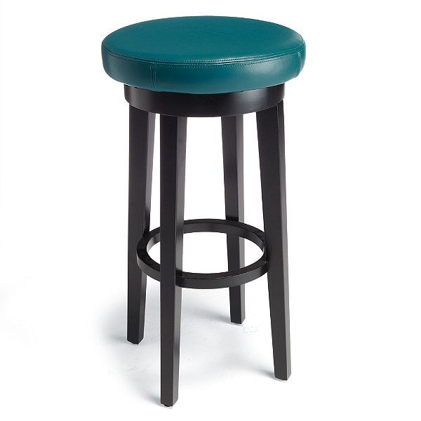 Inspirational Teal Leather Bar Stools