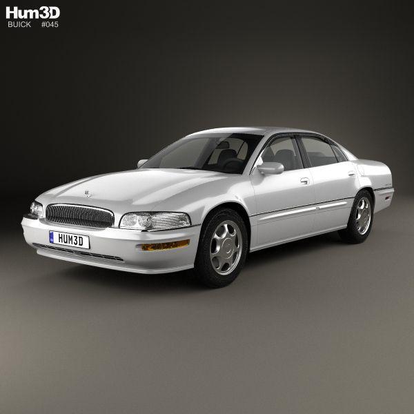 Buick Park Avenue 1996 3d model from Hum3d.com.