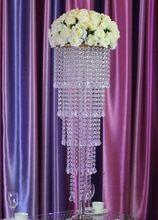 80 см Высокий Хрустальный стол центральным свадебные украшения цветок стоять свадьбы люстра(China (Mainland))
