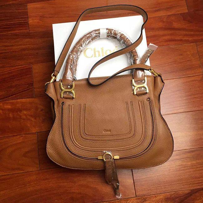 chloe marcie bag medium brown