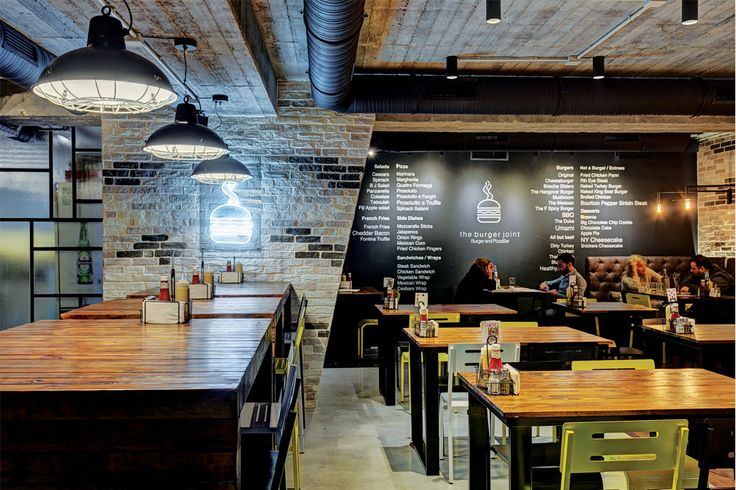 Burger Joint | cosy and inviting dining space | industrial style | designed by SUCH  #interior_design #industrial #restaurants #ek_magazine