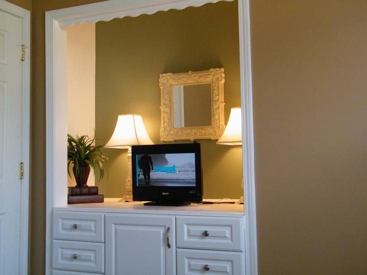 Neat Idea  Remove Closet Door(s), Paint A Coordinating But Diff.