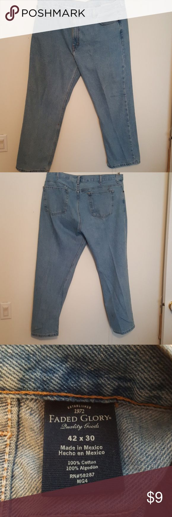 Faded Glory Jeans 42x30 Faded Glory Jeans 42x30 Faded Glory Jeans Straight