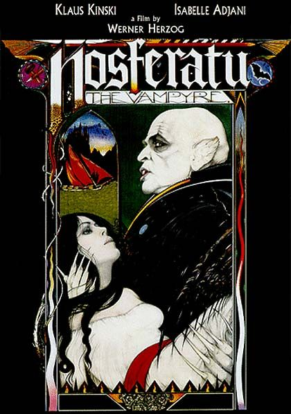 ONE: Number ONE of my ten most favorite movie posters, Nosferatu the Vampyre (1979), directed by Werner Herzog.