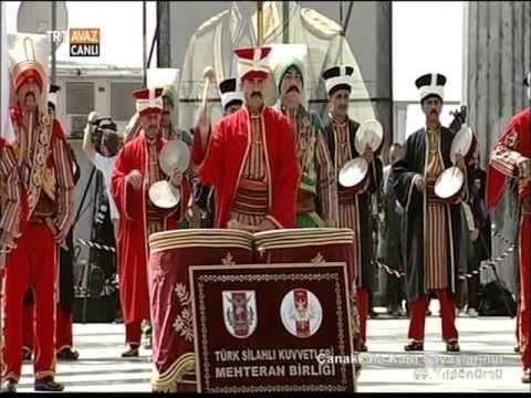 Çanakkale Kara Savaşlarının 99 Yıldönümü Törenleri- Mehteran Birliği Gös...