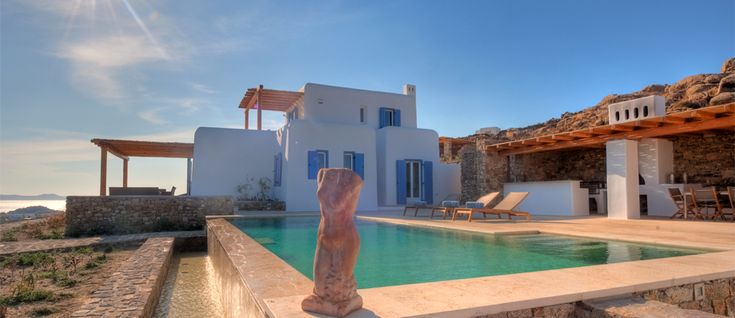 Today's special feature is Pelicanos. This is a majestic property perched in a panoramic position between Paradise and Super Paradise beaches. The 180 degree view over the Aegean sea is just breathtaking. Are you ready to find out more ?? Visit... http://www.mykonosvillas.com/our-villas/pelicanos