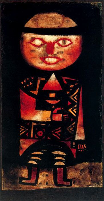 Hilarious and fascinating. Paul Klee ~ Actor, 1923.   The symbols are wonderful.   Kerry