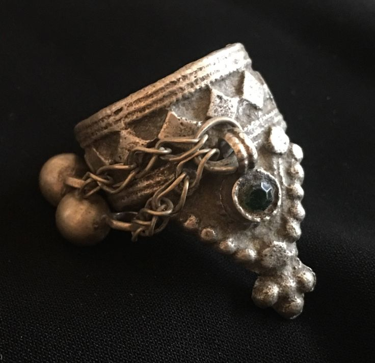 Size 9.5 - Vintage Ring-Kuchi Ring-Dangly Ring-Vintage Jewellery Nomadic Ring-Kuchi Jewellery by JewelsofNomads on Etsy