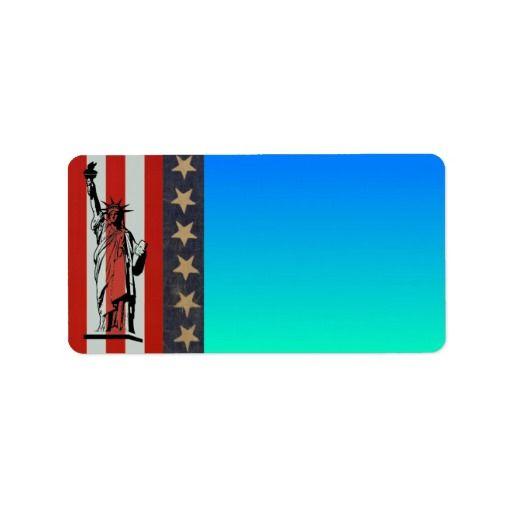 Statue of Liberty Address Label #StatueOfLiberty #Statue #Liberty #Freedom #Immigrant #Refugee #USA #Envelope #Mail #Label #AddressLabel