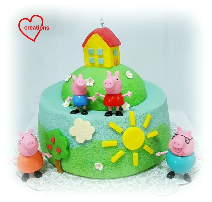 Loving Creations for You: Peppa Pig Family House Chiffon Cake