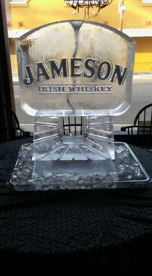 Single track ice luge for Jameson Irish Whiskey #iceluges #icelugestampa #jamesonirishwhiskey