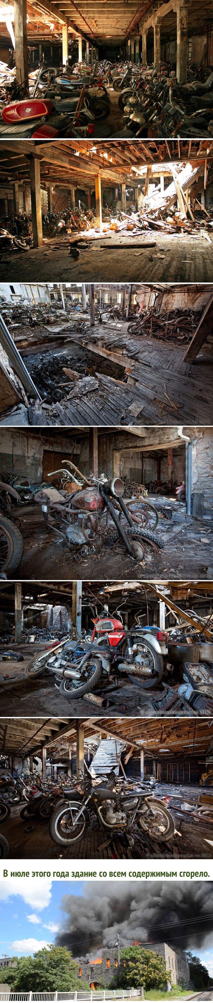Заброшенное кладбище мотоциклов Где-то недалеко от Нью-Йорка..  старые мотоциклы, кладбище мотоциклов, Нью-Йорк, длиннопост