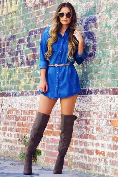 Feel Good Time Dress: Denim