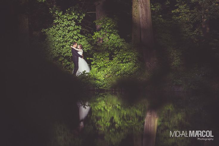 Romantic wedding session in a park. More from this session…