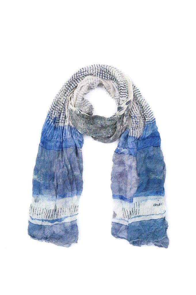 Bufanda ONA Pasionaria - Blanco/Azul | $175,500.00