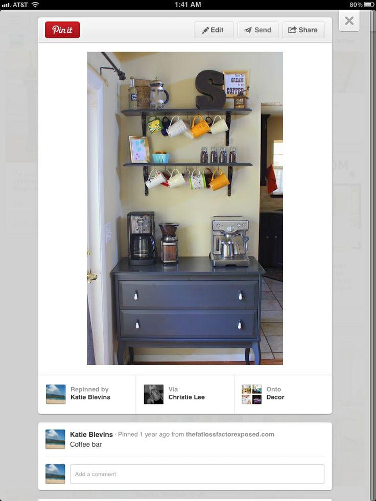 Coffee Bar Kitchen Organization Pinterest Coffee