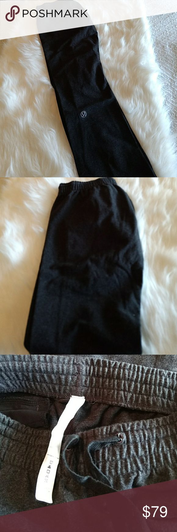 Lululemon Sweat Pants EUC sz 6 Very nice pair of sweats sz 6 grey. Drawstring waist and elastic bottoms and very comfortable. These pants also have a back pocket with a zipper on the right cheek. These will fit a small sz 6 best. I'm now a sz 8 and they are too snug. lululemon athletica Pants Track Pants & Joggers