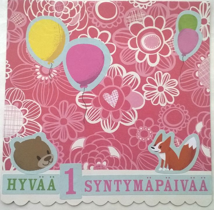 Birthday card for a little girl.