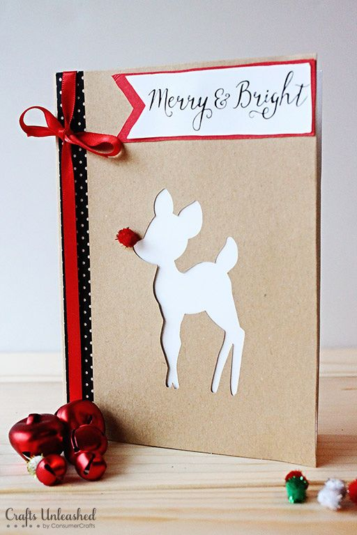 Make Your Own Xmas Cards Online Part - 46: DIY Christmas Cards: Merry U0026 Bright - Crafts Unleashed