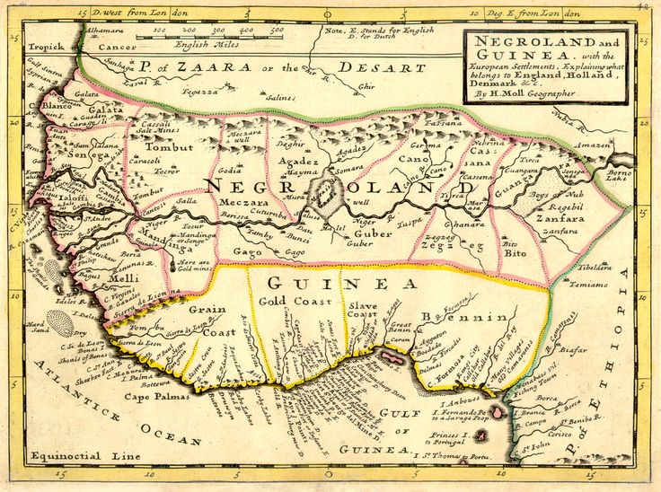 negroland and guinea new correct map of negroland and guinea by g - new world map of africa