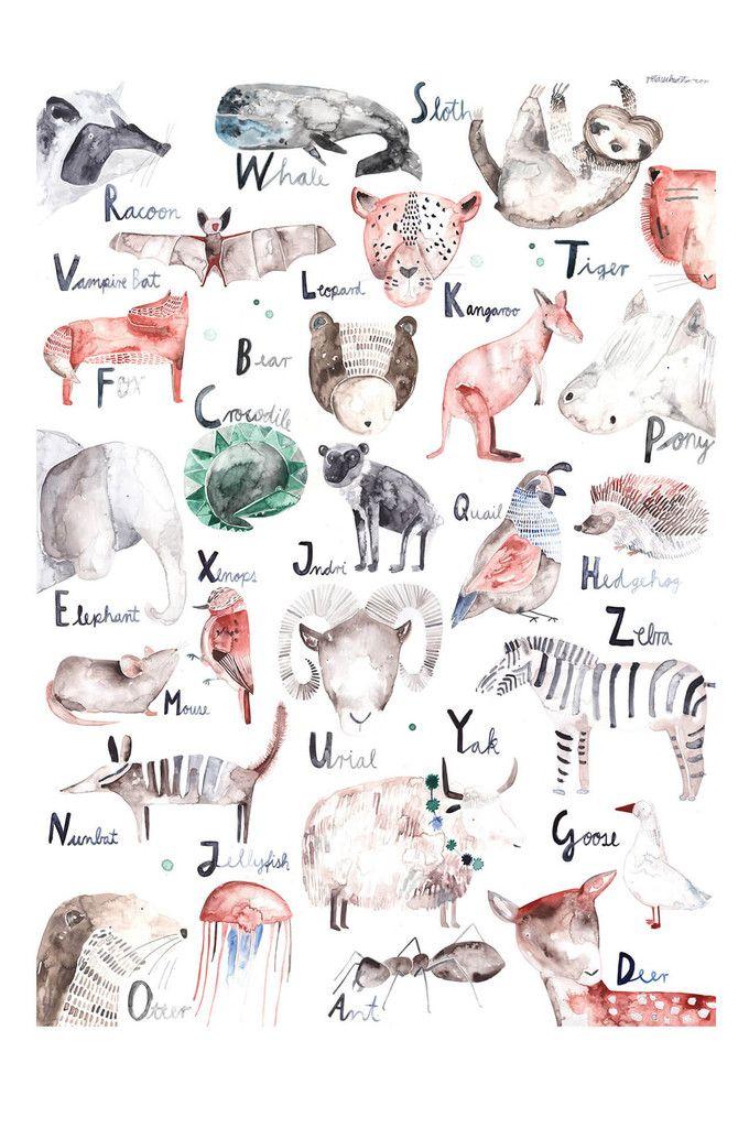 Gretas Schwester Large Poster ABC Animals