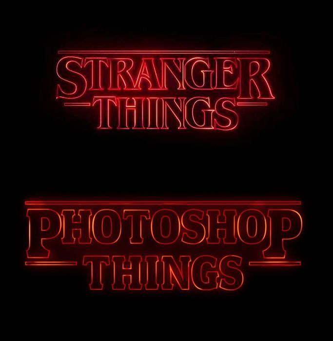 How to recreate the Stranger Things text effect in