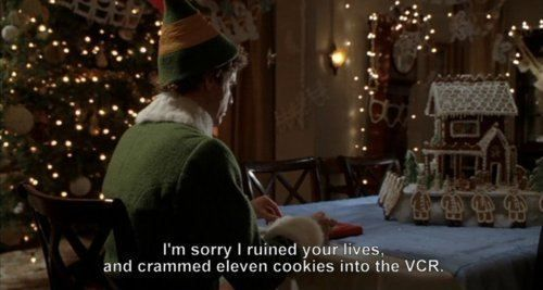 Love this movie: Cookies, Christmas Elf, Mornings Coff, Funny Stuff, Holidays Movie, Movie Line, Elves, Buddy The Elf, A Christmas Stories