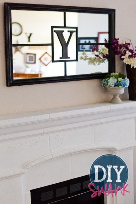 My Favorite Project - DIY Monogram Mirror - DIY Swank