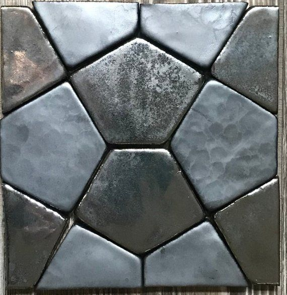 Our Fabulous Hand Painted Hand Pressed Petite Cairo Pentagon Field Tile Design Comes From Historic Egyptian Aesthetic And Hexagon Wall Patterns Hexagon Tiles