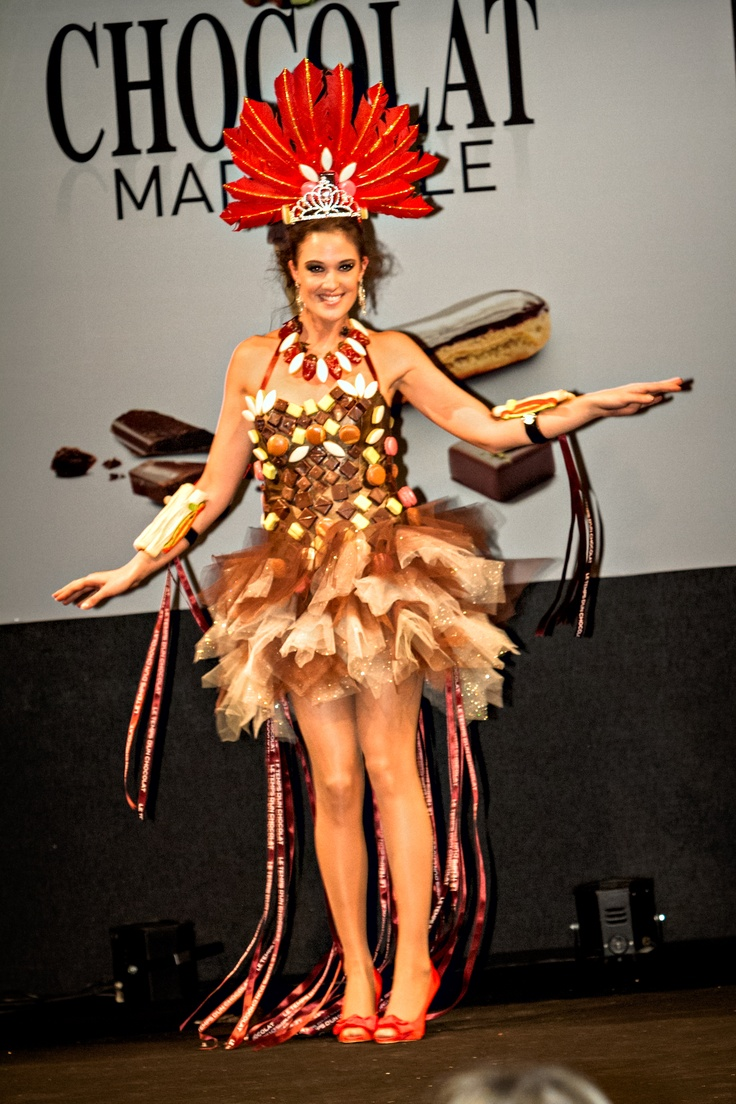 Défilé Robe en Chocolat  #SalonDuChocolatMarseille2013