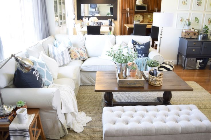 Cozy Comfy Neutral With A Pop Of Color Family Room Our