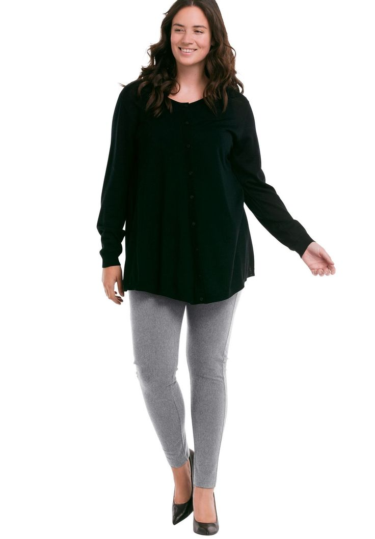 Skinny Knit Pants by Ellos® - Women's Plus Size Clothing #plussizeclothing