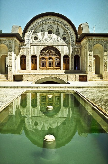 Tabatabayi house_Kashan - Iran. A 150-200 years old house in an ancient city in Iran.