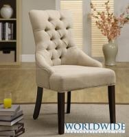 PARIS ACCENT CHAIR - Diamond tufting, nail head trim along back, accent or dining chair