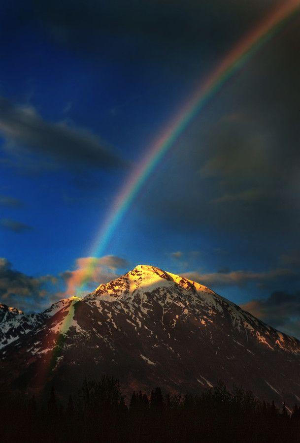 Mountain Rainbow, Alaska, by Carlos Rojas, via 500px