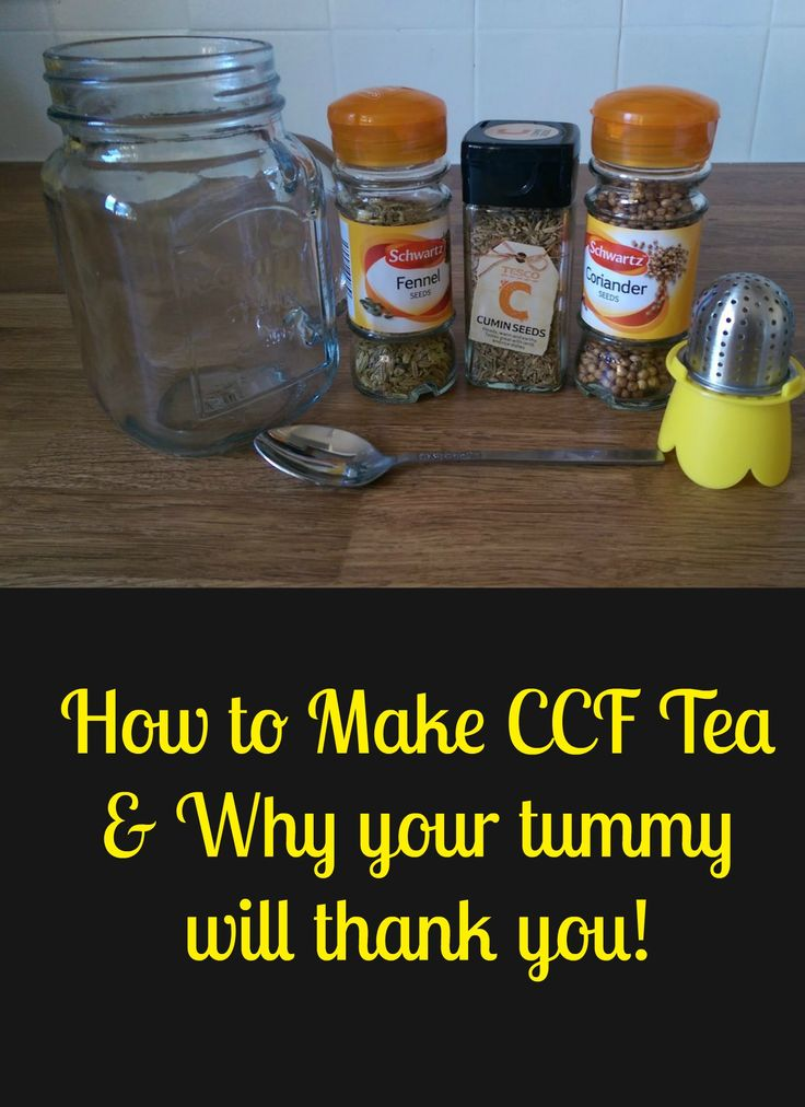 CCF tea for old school digestive health.