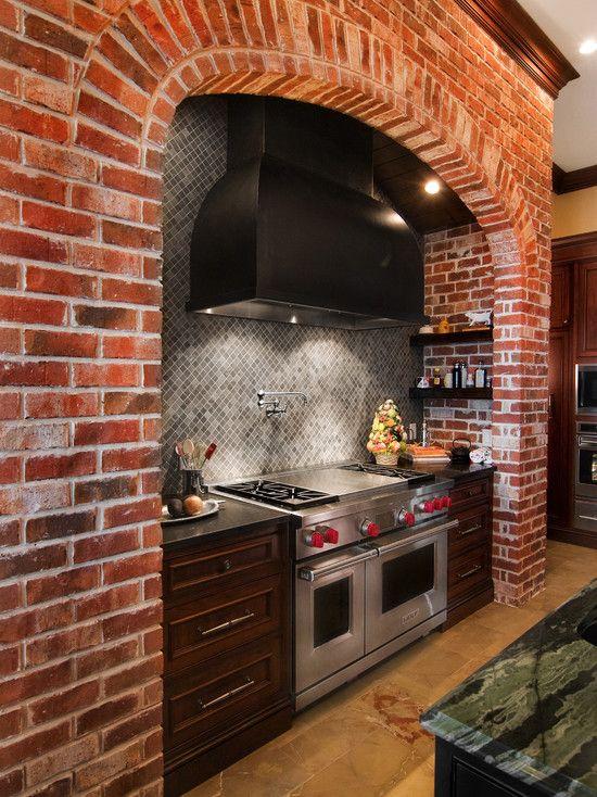31 Best Kitchen Images On Pinterest Kitchens Brick Wall