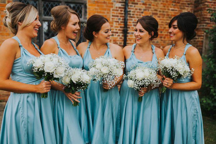 There's nothing like having your best mates with you on your big day. Photo by Benjamin Stuart Photography #weddingphotography #bridesmaids #weddingday #weddingflowers #bluedresses #lillibrookemanor #rosesandgyp