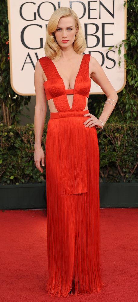 January Jones (2011) Golden Globes Dress