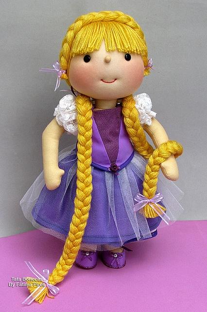 Rapunzel : ) by Tata Bonecas, via Flickr