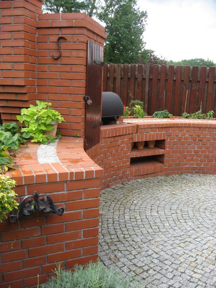 murowana grillo wędzarnia wg projektu autorstwa PracowniaOkaz