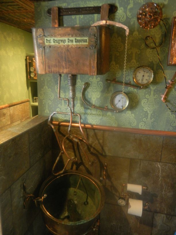 17 best images about steampunk bathroom on pinterest for Steampunk bathroom ideas