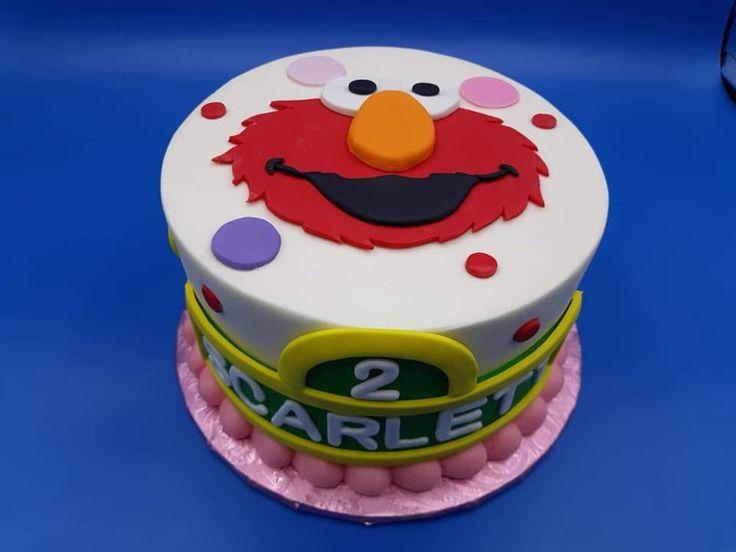 Elmo cake sesame street cake second birthday cake 2nd