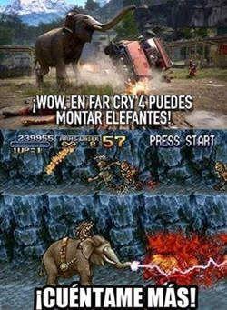 Con la reciente salida del Far Cry 4 y la inclusión del uso de algunos animales como por ejemplo montar en elefantes