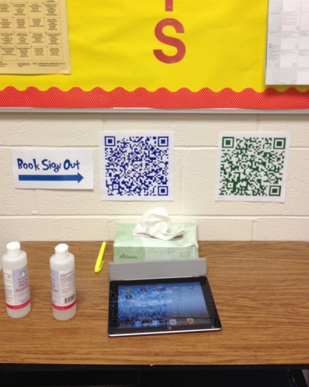Classroom routines made easy with QR codes linked to Google forms--Must do this for book check out!!
