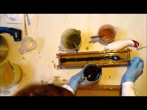 Szappan mintázás/ Swirl a natural soap
