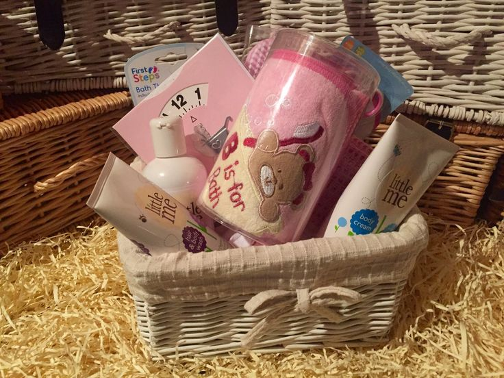 Baby Bathtime Basket Pink Packed