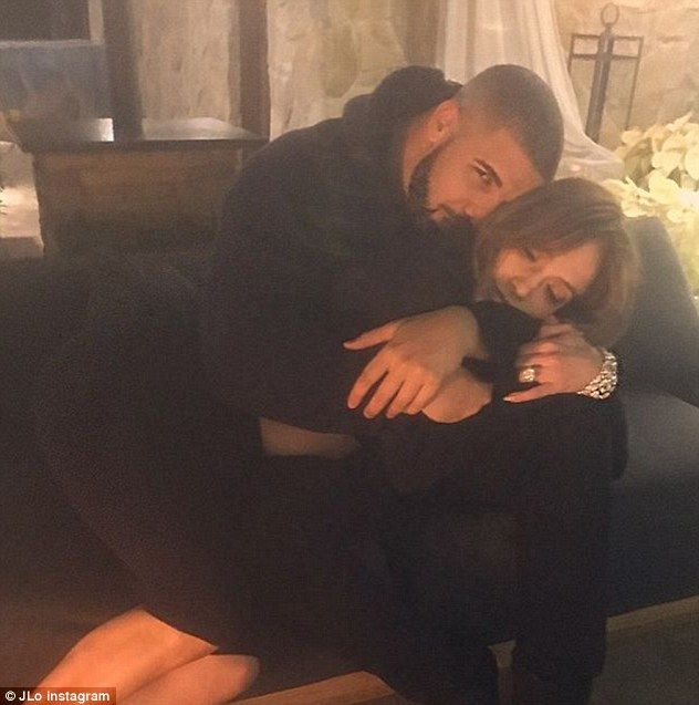 Relaxing: The twosome confirmed the rumors when they both posted a picture as they cuddled on a couch together; pictured four days ago on her Instagram